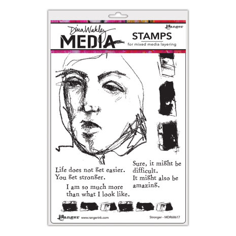 Dina Wakley Media Cling Stamps 6X9 - Stronger