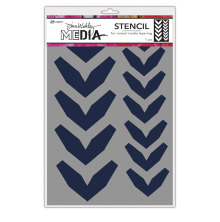 Dina Wakley Media Stencils 9X6 - Large Fractured Chevrons