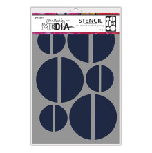 Dina Wakley Media Stencils 9X6 - Large Halves