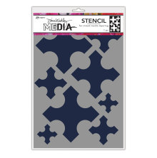 Dina Wakley Media Stencils 9X6 - Large Medieval Crosses