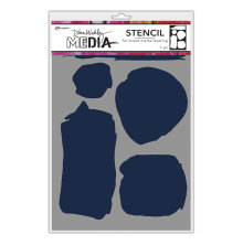 Dina Wakley Media Stencils 9X6 - Uneven Shapes