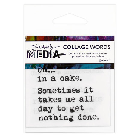 Dina Wakley Media Tissue Pack 3X3 20/Pkg - Collage Word Pack 3