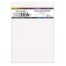 Dina Wakley Media Tissue Pack 7.5X10 20/Pkg - Plain