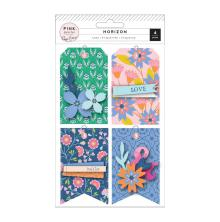 Paige Evans Layered Cardstock Tags 4/Pkg - Horizon