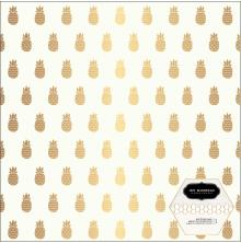 Jen Hadfield Chasing Adventures Specialty Cardstock 12X12 - Pineapple