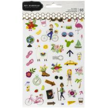 Jen Hadfield Clear Stickers 93/Pkg - Chasing Adventures