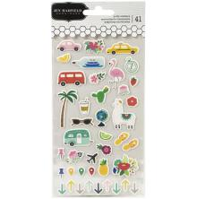 Jen Hadfield Chasing Adventures Puffy Stickers 41/Pkg - Icons