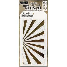 Tim Holtz Layered Stencil 4.125X8.5 - Shifter Rays