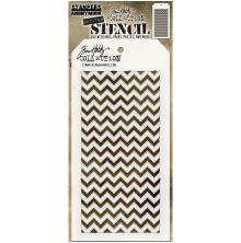 Tim Holtz Layered Stencil 4.125X8.5 - Shifter Chevron
