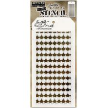 Tim Holtz Layered Stencil 4.125X8.5 - Shifter Scallop