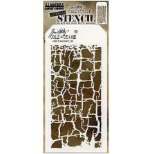 Tim Holtz Layered Stencil 4.125X8.5 - Decayed