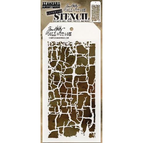 Tim Holtz Layered Stencil 4.125X8.5 -Decayed