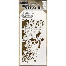 Tim Holtz Layered Stencil 4.125X8.5 -Grime