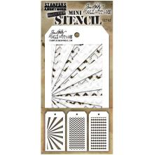 Tim Holtz Mini Layered Stencil Set 3/Pkg - Set 42