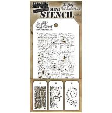 Tim Holtz Mini Layered Stencil Set 3/Pkg - Set 43