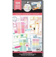 Me & My Big Ideas Happy Planner Sticker Value Pack - Teacher Colorful Boxes BIG