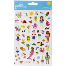 Pebbles Clear Stickers 94/Pkg - Oh Summertime