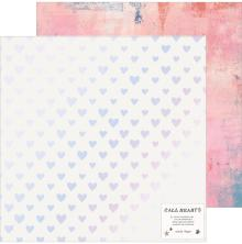 Crate Paper All Heart Double-Sided Foiled Cardstock 12X12 - Your Heart