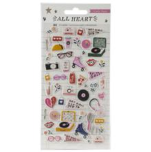 Crate Paper Puffy Stickers 54/Pkg - All Heart