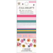 Crate Paper Washi Tape 9/Pkg - All Heart