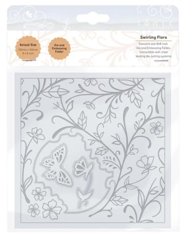 Tonic Studios Essentials Die and Embossing Folder 6X6 - Swirling Flora 2359E
