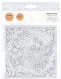 Tonic Studios Essentials Die and Embossing Folder 6X6 - Butterfly Forest 2360E