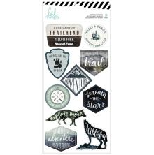 Heidi Swapp Embossed Stickers 10/Pkg - Wolf Pack