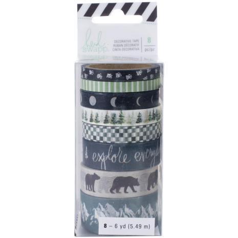 Heidi Swapp Washi Tape Rolls 8/Pkg - Wolf Pack