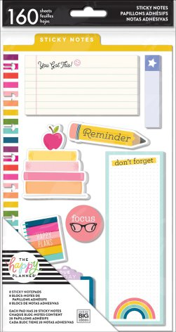 Me & My Big Ideas Happy Planner Sticky Notes 160/Pkg - Teacher You Got This
