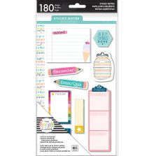 Me & My Big Ideas Happy Planner Sticky Notes 180/Pkg - Student Get Things Done