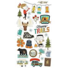 Simple Stories Chipboard Stickers 6X12 - Happy Trails