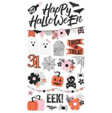 Simple Stories Chipboard Stickers 6X12 - Happy Haunting