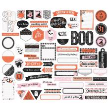 Simple Stories Journal Bits & Pieces Die-Cuts 64/Pkg -  Happy Haunting