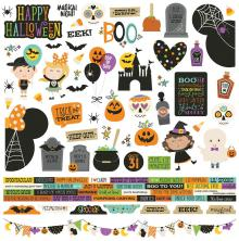 Simple Stories Say Cheese Halloween Cardstock Stickers 12X12 - Combo