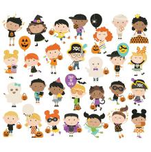 Simple Stories Happy Kids Bits & Pieces Die-Cuts 28/Pkg - Say Cheese Halloween