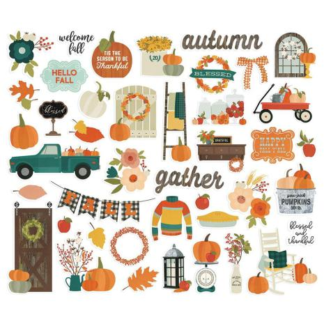Simple Stories Bits & Pieces Die-Cuts 42/Pkg -  Fall Farmhouse