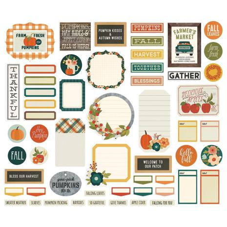 Simple Stories Journal Bits & Pieces Die-Cuts 57/Pkg -  Fall Farmhouse