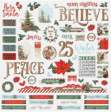 Simple Stories Country Christmas Cardstock Stickers 12X12 - Combo