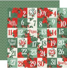 Simple Stories Country Christmas Double-Sided Cardstock 12X12 - 2x2 Elements