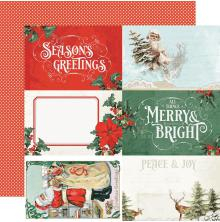 Simple Stories Country Christmas Double-Sided Cardstock 12X12 - 4x6 Elements
