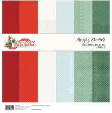 Simple Stories Basics Double-Sided Paper Pack 12X12 6/Pkg - Country Christmas