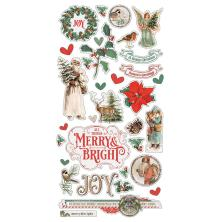 Simple Stories Chipboard Stickers 6X12 - Country Christmas