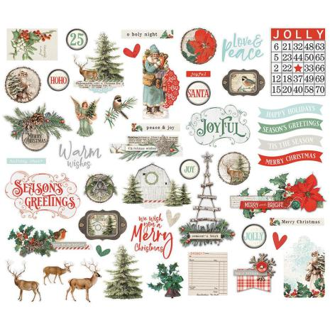 Simple Stories Bits & Pieces Die-Cuts 49/Pkg - Country Christmas