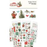 Simple Stories Mini Sticker Tablet 12/Pkg - Country Christmas