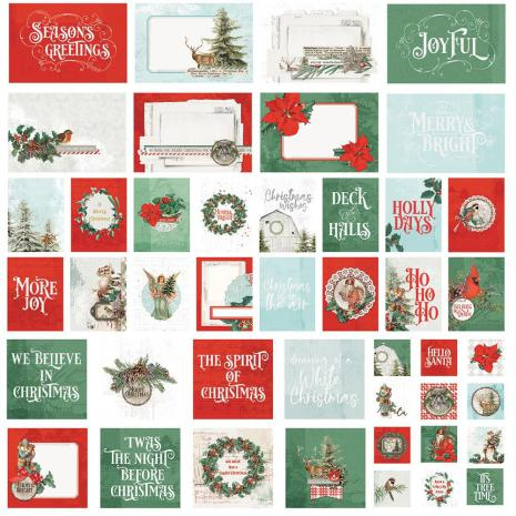 Simple Stories Snap Card Pack 48/Pkg - Country Christmas