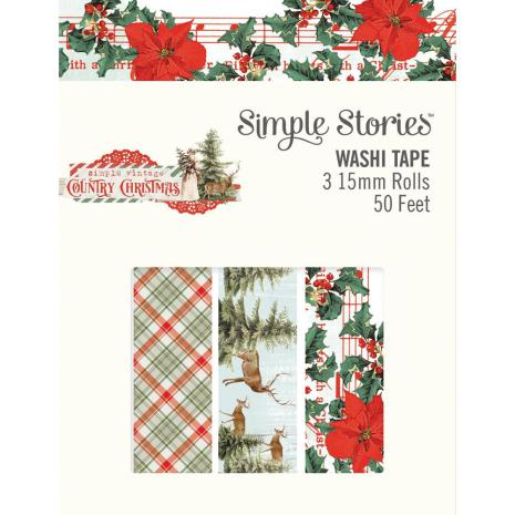 Simple Stories Washi Tape 3/Pkg - Country Christmas