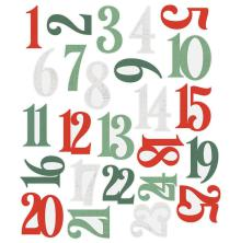 Simple Stories Number Pocket Pieces 25/Pkg - Country Christmas