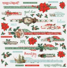 Simple Stories Country Christmas Cardstock Stickers 12X12 - Borders
