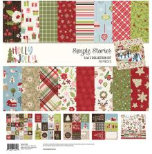 Simple Stories Collection Kit 12X12 - Holly Jolly