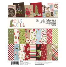 Simple Stories Double-Sided Paper Pad 6X8 24/Pkg - Holly Jolly